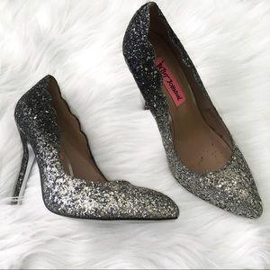 Betsey Johnson Ombré Sparkle Heels
